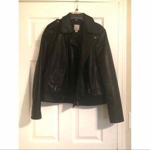 Halogen leather moto jacket // NEW W/O TAGS